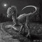 DrawDinovember Day 6 Dilophosaurus