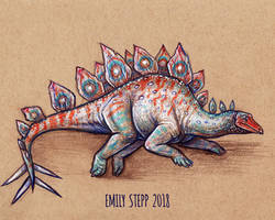 DrawDinovember Day 7 Stegosaurus by EmilyStepp