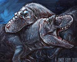 DrawDinovember Day 8 Daspletosaurus by EmilyStepp