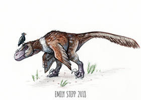 DrawDinovember Day 16 Utahraptor by EmilyStepp