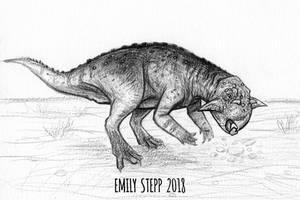 DrawDinovember Day 20 Psittacosaurus by EmilyStepp