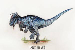 DrawDinovember Day 21 Pachycephalosaurus by EmilyStepp