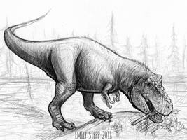 DrawDinovember Day 28 Tyrannosaurus rex by EmilyStepp