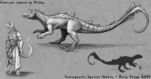 Semiaquatic Concept Sketch Commission