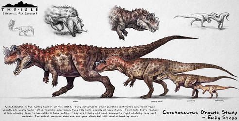 The Isle Ceratosaurus Growth Fan Concept