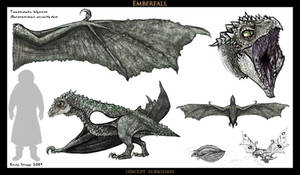 Toadmouth Wyvern Concept by EmilyStepp