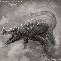 Kaiju Monster March Day 2 - Anguirus by EmilyStepp