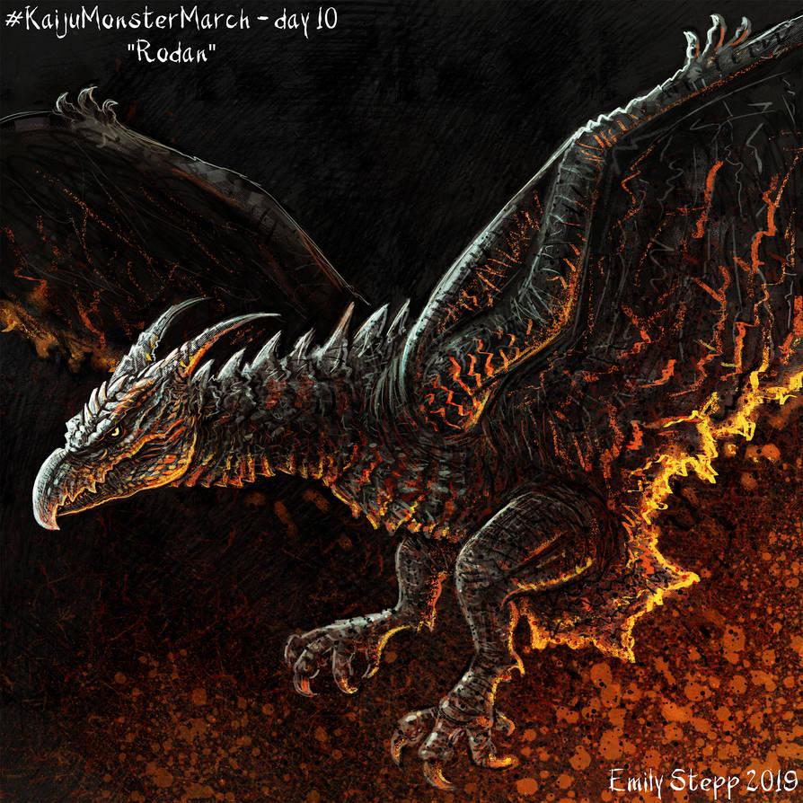 Kaiju Monster March Day 10 - Rodan by EmilyStepp on DeviantArt