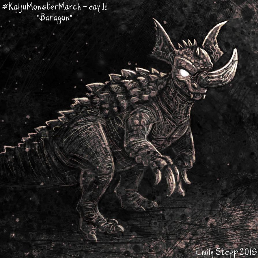 Kaiju Monster March Day 11 - Birthday Baragon by EmilyStepp