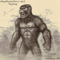 Kaiju Monster March Day 12 - King Kong by EmilyStepp