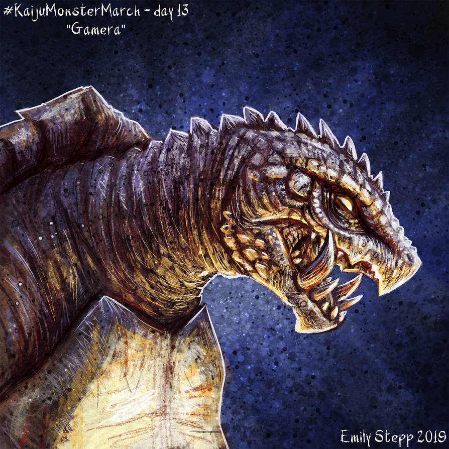 Kaiju Monster March Day 13 - Gamera by EmilyStepp