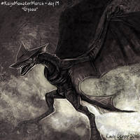 Kaiju Monster March Day 14 - Gyaos by EmilyStepp