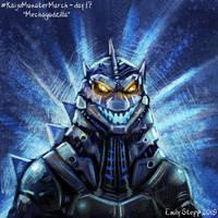 Kaiju Monster March Day 17 - Mechagodzilla by EmilyStepp