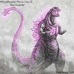 Kaiju Monster March Day 23 - Shin Godzilla by EmilyStepp