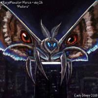 Kaiju Monster March Day 26 - Mothra by EmilyStepp