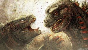 Kaiju Monster March Final Day - Godzilla Battle by EmilyStepp