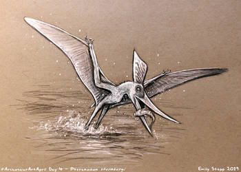 Archosaur Art April Day 4 - Pteranodon by EmilyStepp