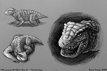 Archosaur Art April Day 5 - Simosuchus by EmilyStepp