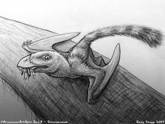 Archosaur Art April Day 8 - Dimorphodon by EmilyStepp