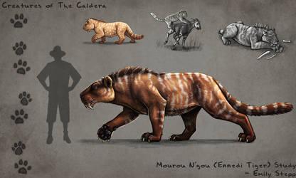 Caldera Mourou N'gou (Ennedi Tiger) Study by EmilyStepp