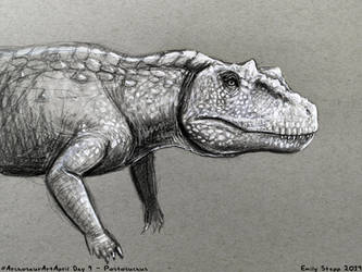 Archosaur Art April Day 9 - Postosuchus by EmilyStepp