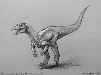 Archosaur Art April Day 11 - Shuvosaurus by EmilyStepp