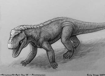 Archosaur Art April Day 15 - Prestosuchus by EmilyStepp