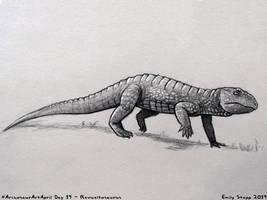 Archosaur Art April Day 19 - Revueltosaurus by EmilyStepp