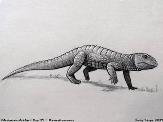 Archosaur Art April Day 19 - Revueltosaurus by EmilyStepp