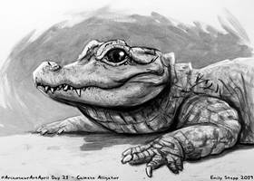 Archosaur Art April Day 21 - Chinese Alligator by EmilyStepp