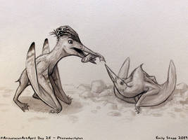 Archosaur Art April Day 25 - Pterodactylus