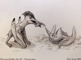 Archosaur Art April Day 25 - Pterodactylus by EmilyStepp