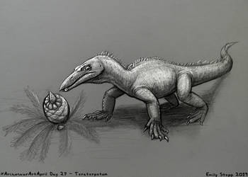 Archosaur Art April Day 27 - Teraterpeton by EmilyStepp