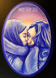Couple Acrylic Plaque Painting