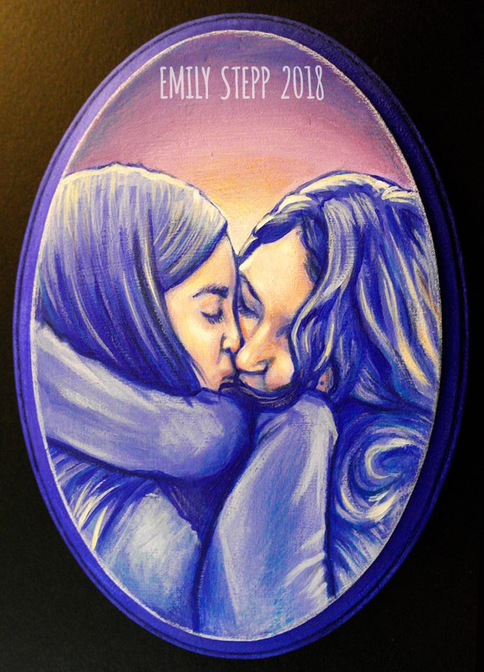 Couple Acrylic Plaque Painting by EmilyStepp