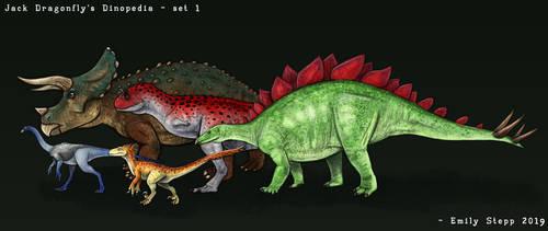 Jack Dragonfly's Dinopedia Set 1 by EmilyStepp