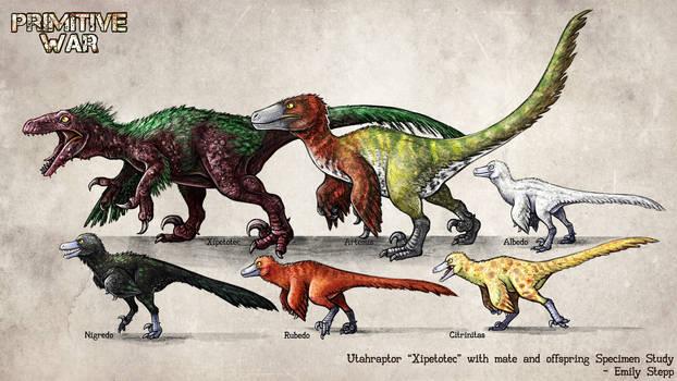 Primitive War Utahraptor Family