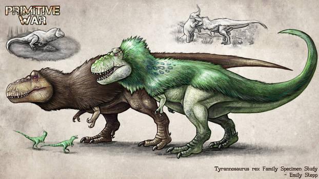 Primitive War Tyrannosaurus rex Family