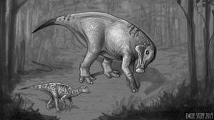 Dinocember Day 28 Lambeosaurus