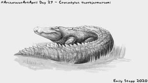 Archosaur Art April Day 27 - Crocodylus