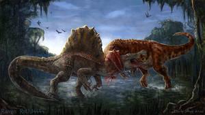 The Isle New Giganotosaurus vs Spinosaurus