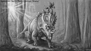 Regaliceratops Display - Dinocember Day 7