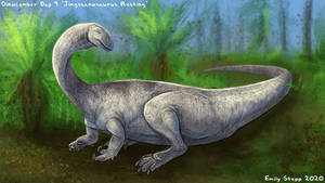 Jingshanosaurus Resting - Dinocember Day 9