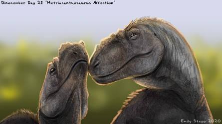 Metriacanthosaurus Affection - Dinocember Day 21