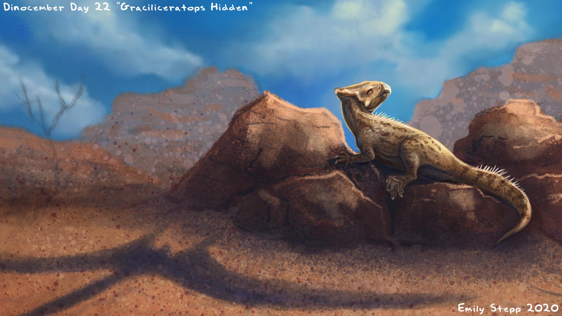 Graciliceratops Hidden - Dinocember Day 22