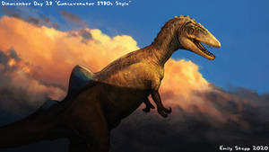 Concavenator 1980s Style - Dinocember Day 28