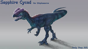Sapphire Cycad the Dilophosaurus