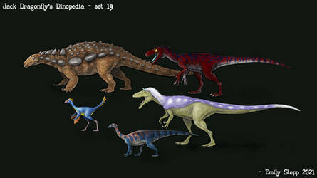 Jack Dragonfly's Dinopedia Set 19