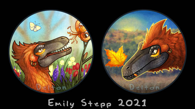 Raptor Spring and Fall Icon Commissions
