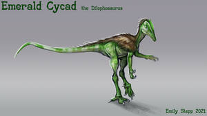 Emerald Cycad the Dilophosaurus